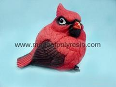 Polyresin/polystone Cardinal bird, cardinal figure, cardinal crafts