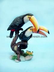 polystone/resin toucan crafts/figurine, toucan birds, toucan afts