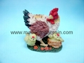 polyresin hen crafts/garden hen decor
