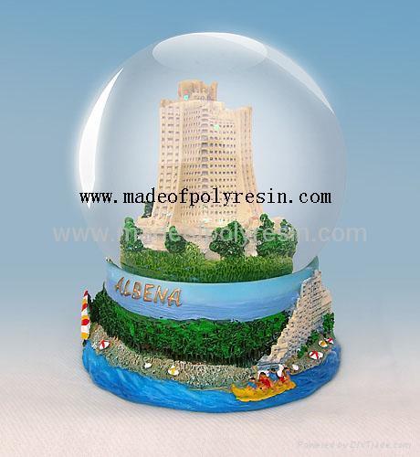 polyresin building snow ball,resin water ball,resin snow globe