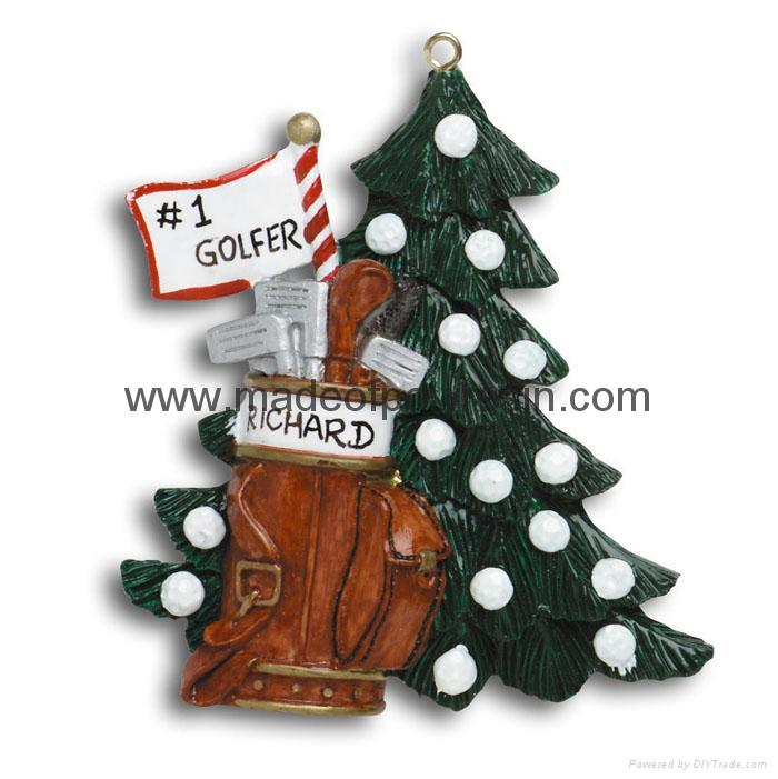 Golfer Tree-Resin Christmas Gifts
