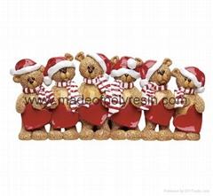 Table Top Bear Family-Christmas ornaments