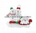 Ornament Snowman Sled-Resin Christmas