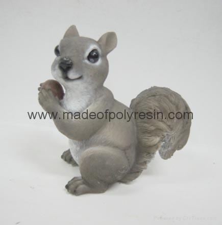 polyresin squirrel resin squirrel  1
