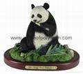 polyresin panda bear resin panda statue