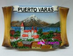 polyresin tourist magnet resin souvenir fridge magnet