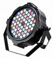 Slim led par light  3w 54pcs rgbw