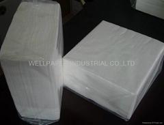 Luncheon Napkins 1/4 Fold/white napkin
