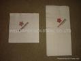 Luncheon Napkins 1/4 Fold/white napkin 4