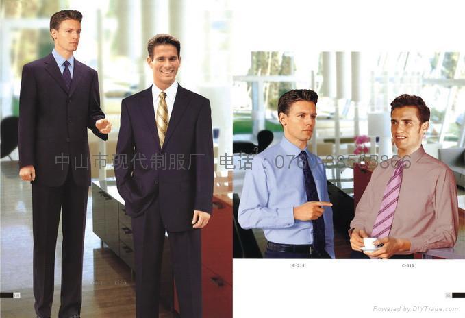 专业服装厂家量身订制行政部男西装上班制服办公室工衣 1