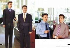 专业服装厂家量身订制行政部男西装上班制服办公室工衣