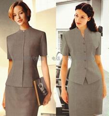訂製2014春夏新款職業女裝熱銷酒店美容院白領公司辦公室職裝