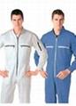 定制夏季薄款连体工作服长短袖套装 劳保工程服 工程工装连体服 1