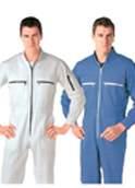 定制夏季薄款连体工作服长短袖套装 劳保工程服 工程工装连体服