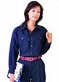 专业制服厂家定制上衣/套装男女夏季短袖汽修车间工厂工服工衣订做 1