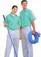 提供订制车间上衣/套装男女夏季短袖工厂服汽修服工程服工作工衣 2
