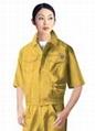 提供订制车间上衣/套装男女夏季短袖工厂服汽修服工程服工作工衣 3