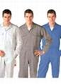定制夏季薄款连体工作服长短袖套装 劳保工程服 工程工装连体服 2