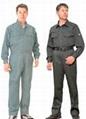 定制夏季薄款连体工作服长短袖套装 劳保工程服 工程工装连体服 3