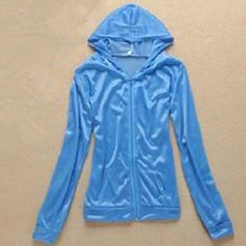 服装工厂订做夏季防晒服装 女士防晒外套 外出防晒荧光布防护衣服 1