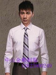 中山服装厂办公室制服衬衣 男女服装 办公室工作衬衫  工作衬衣服