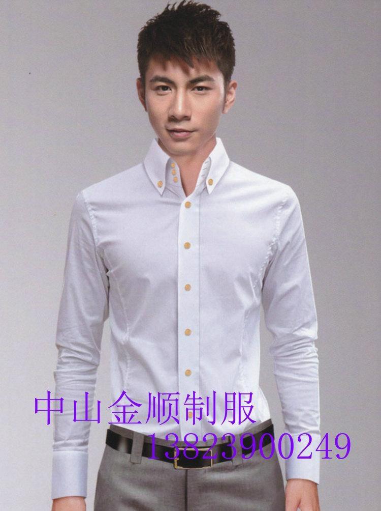 中山服装厂办公室制服衬衣 男女服装 办公室工作衬衫  工作衬衣服 2