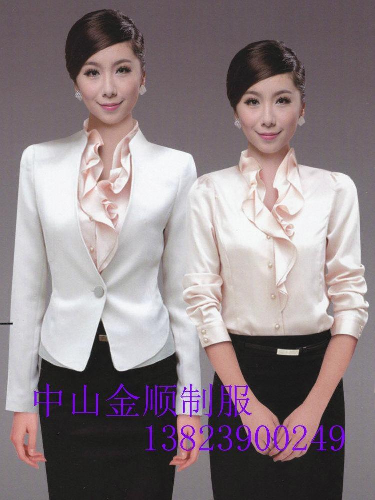 品牌女式衬衫职业套装行政制服订做 职业装衬衫 1