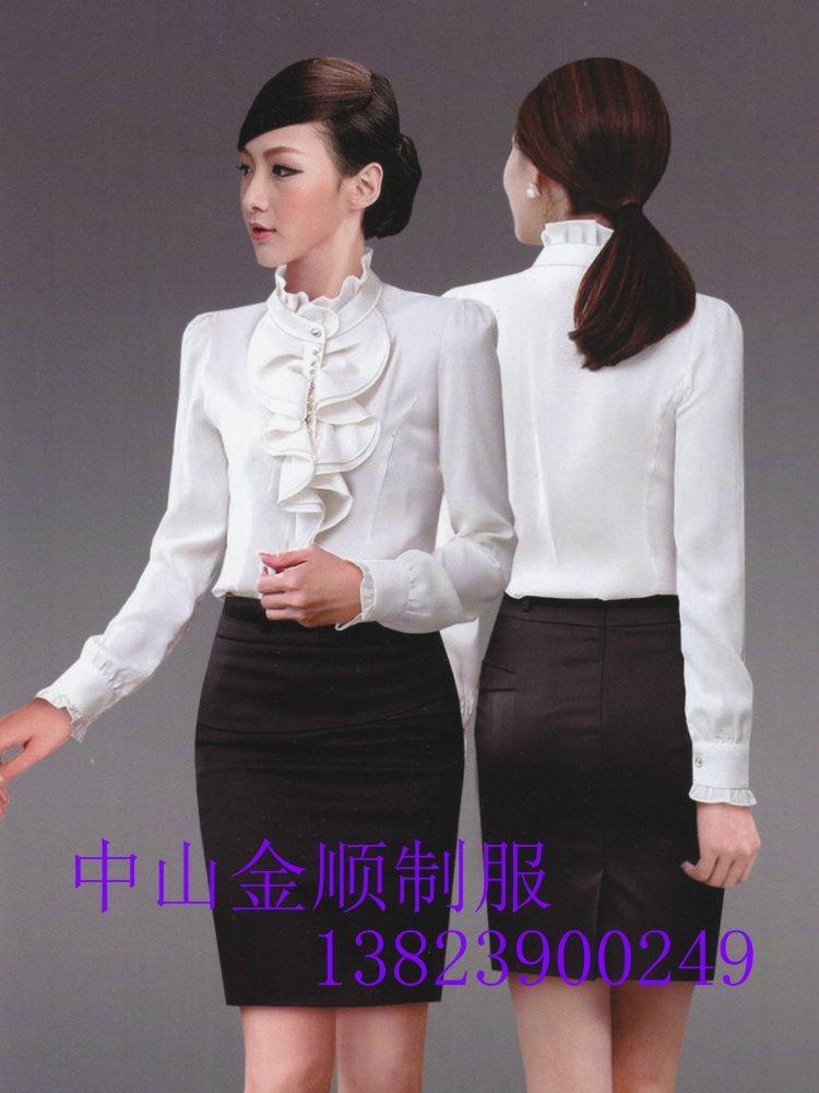 品牌女式衬衫职业套装行政制服订做 职业装衬衫 2