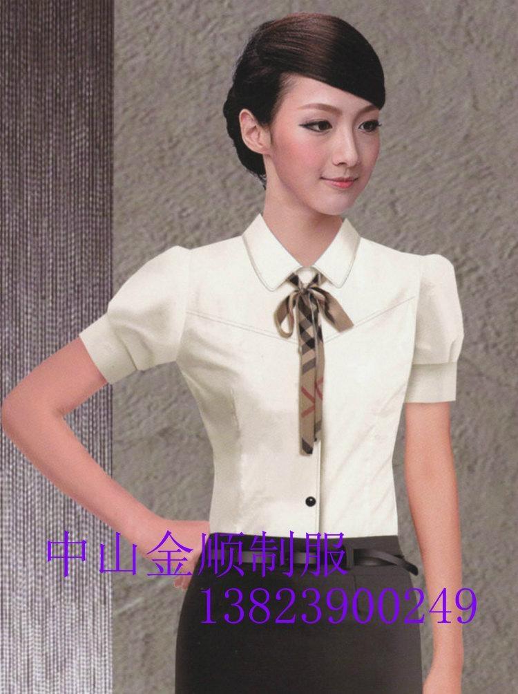品牌女式衬衫职业套装行政制服订做 职业装衬衫 3