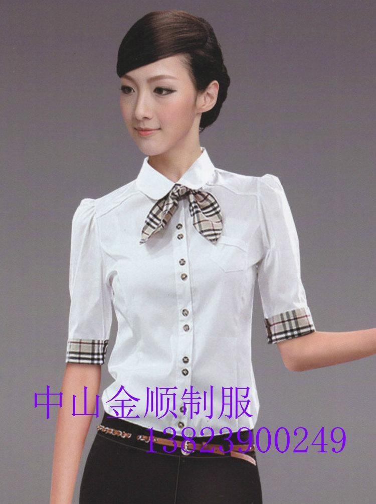 品牌女式衬衫职业套装行政制服订做 职业装衬衫 5