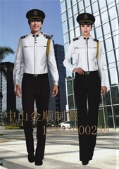 Hotel uniforms, security uniforms, security on duty