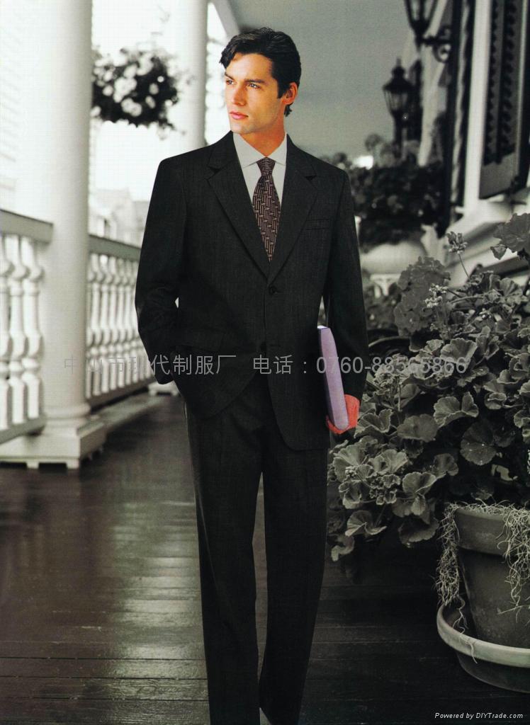 供应量身订做行政部男西装政府高层服装企业形象制服 1