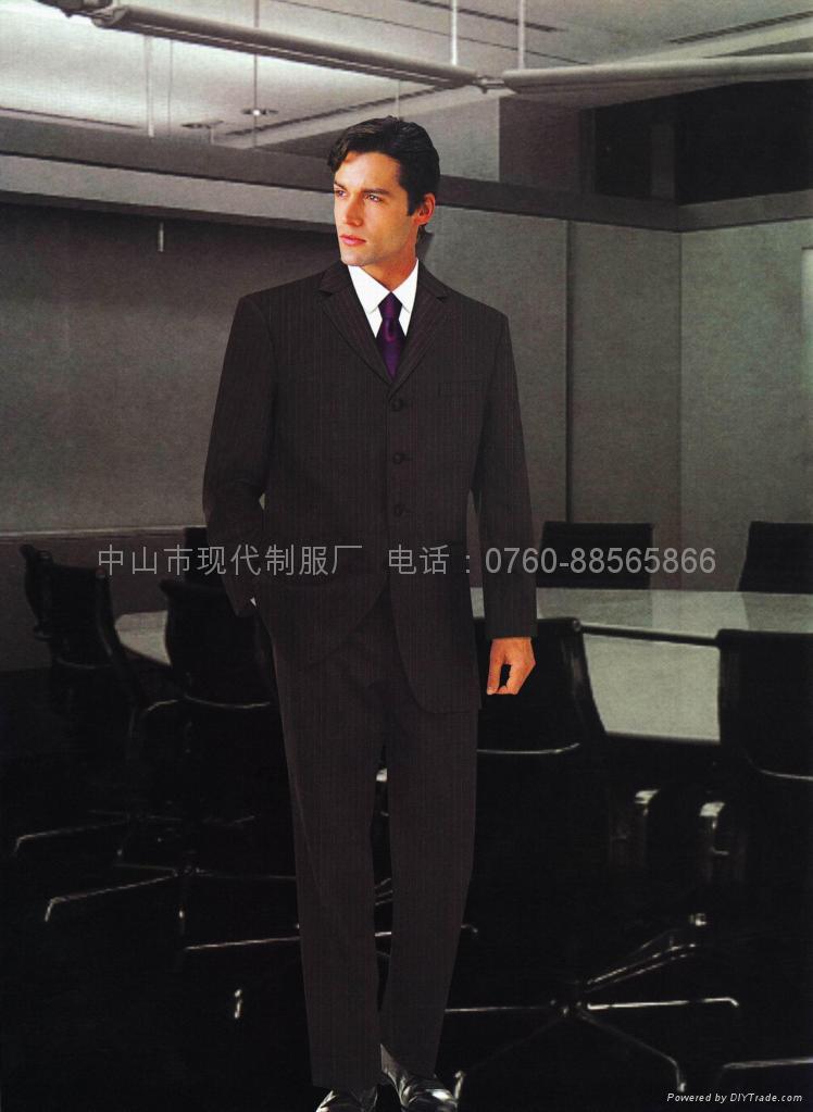 供应量身订做行政部男西装政府高层服装企业形象制服 2