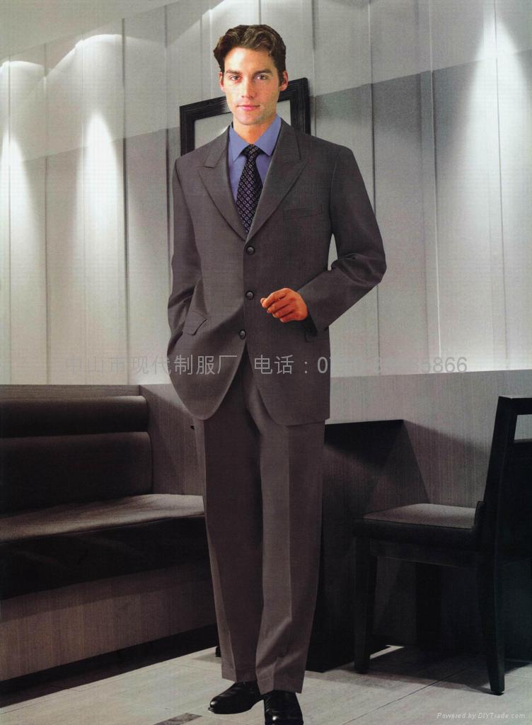 供应量身订做行政部男西装政府高层服装企业形象制服 3