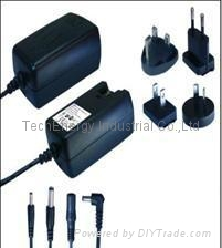 15 W series vertical interchangeble type switching power supply- black color
