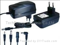 24W series vertical type switching power supply-GS version black color