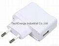 5W White VDE USB Universal Power Adapter