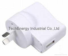 5W White SAA USB Universal Power Adapter