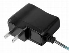 5W UL black external wall-mount power adapter