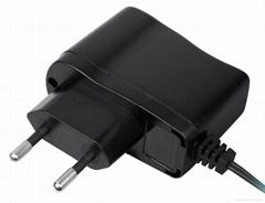 Black 8W VDE Plug AC/DC Adapter