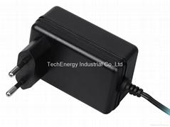 18W VDE Black Universal AC/DC Power Adapter