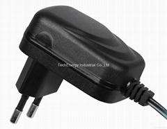 12W universal AC/DC power adapter with