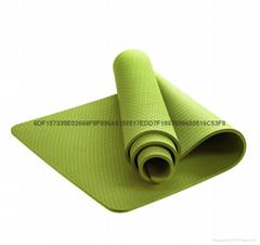 廠家直銷環保無味TPE瑜伽墊子183*61*8mm加寬加厚瑜伽墊