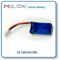 Small RC Lipo Battery 120mAh 3.7V 30C For Mini RC Plane&Helicopter&Drone