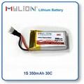 Small RC Lipo Battery 350mAh 3.7V 30C