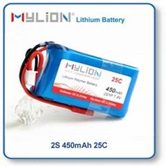 RC Lipo Battery 450mAh 7.4V  25C for