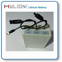 lithium battery for Smart Garden LED Lamp with solar LiFe 12.8V3Ah