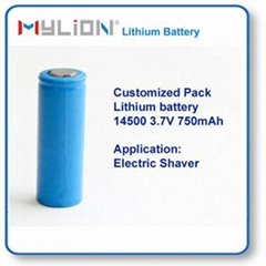 Small Lithium Battery 14500 750mah 3.6V From China Factory for beauty instrument