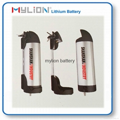 Rechargeable Lithium Battery For E bike 36V10Ah With Bottle Case