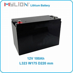 12V100Ah Rechargeable Lithium Battery for Car Starter or Solar Storage